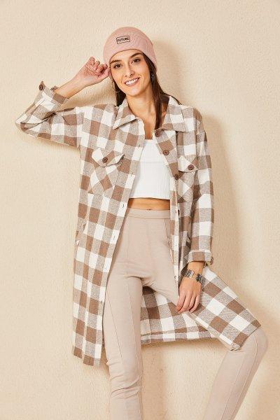 Oduncu Kalın Ekose Tunik Elbise