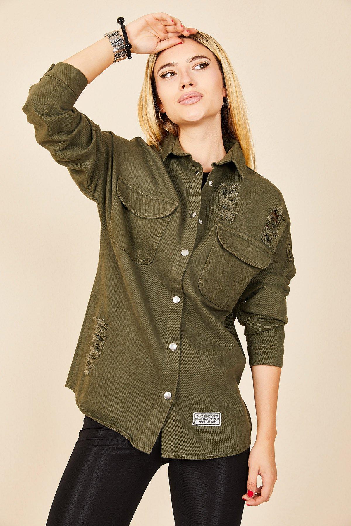 Uzun Kot Gömlek Ceket