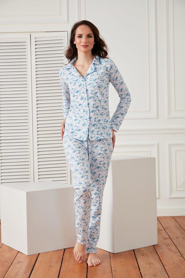 Çiçekli Pijama Takım