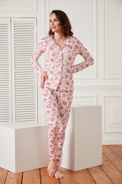 Çiçekli Pijama TAKIM