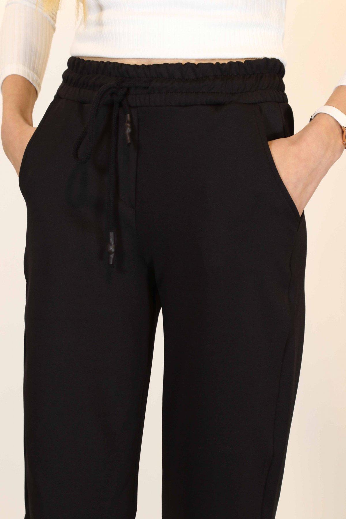 Paça Katlı Bel Bağcık Pantolon