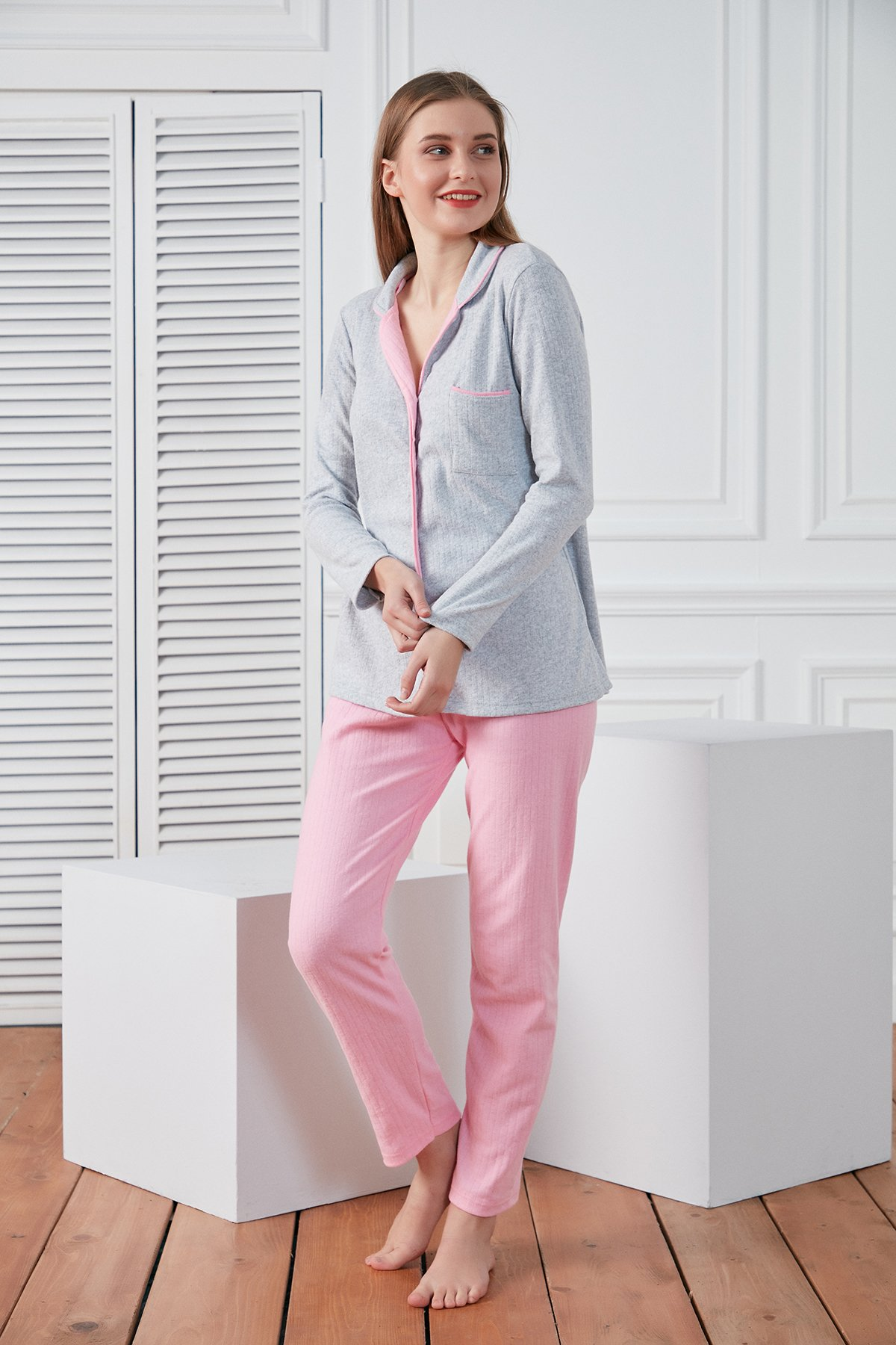 Garnili Penye İnterlok Pijama Takım