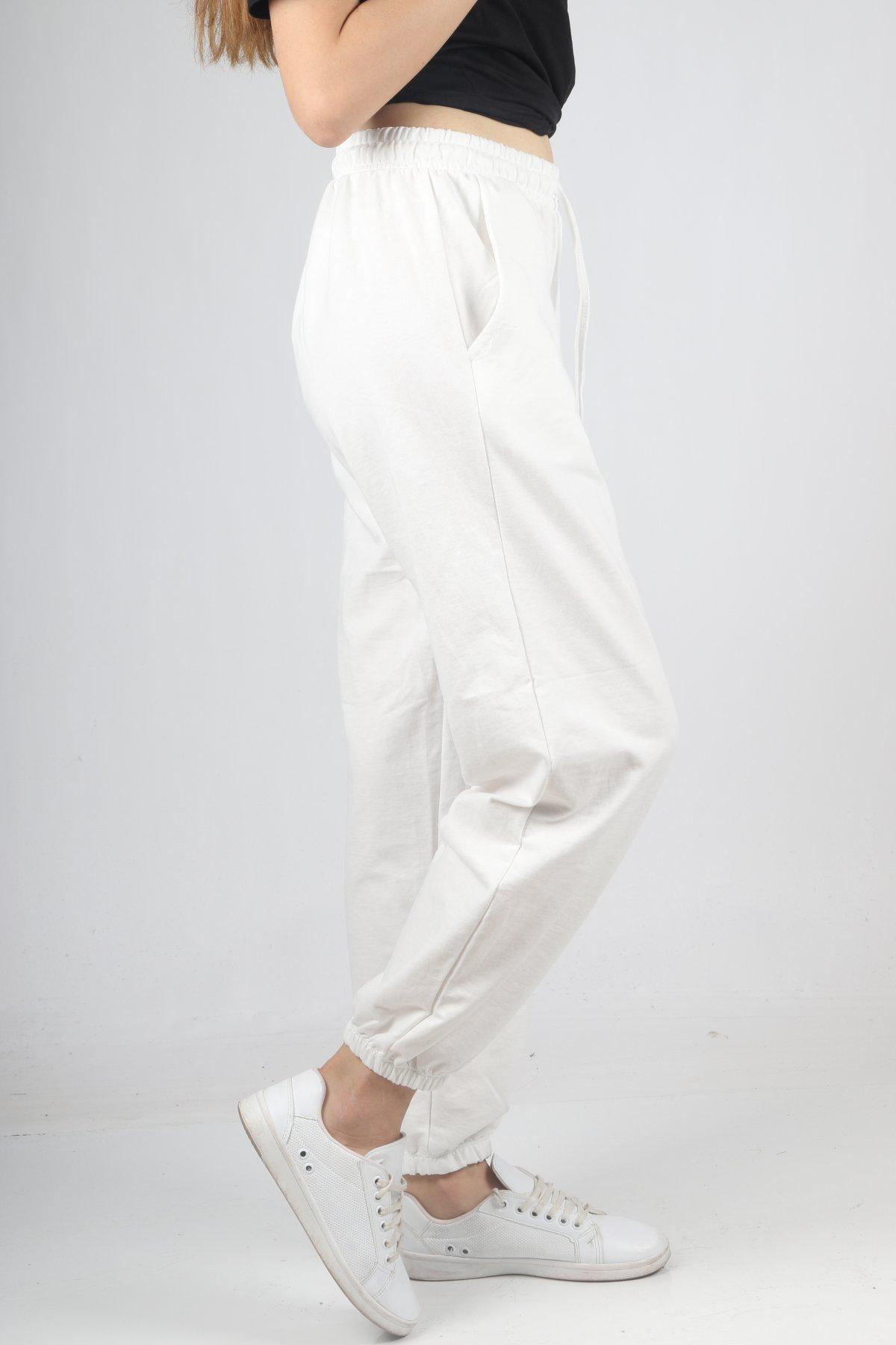 İp Bağcık Paça Lastik Pantolon