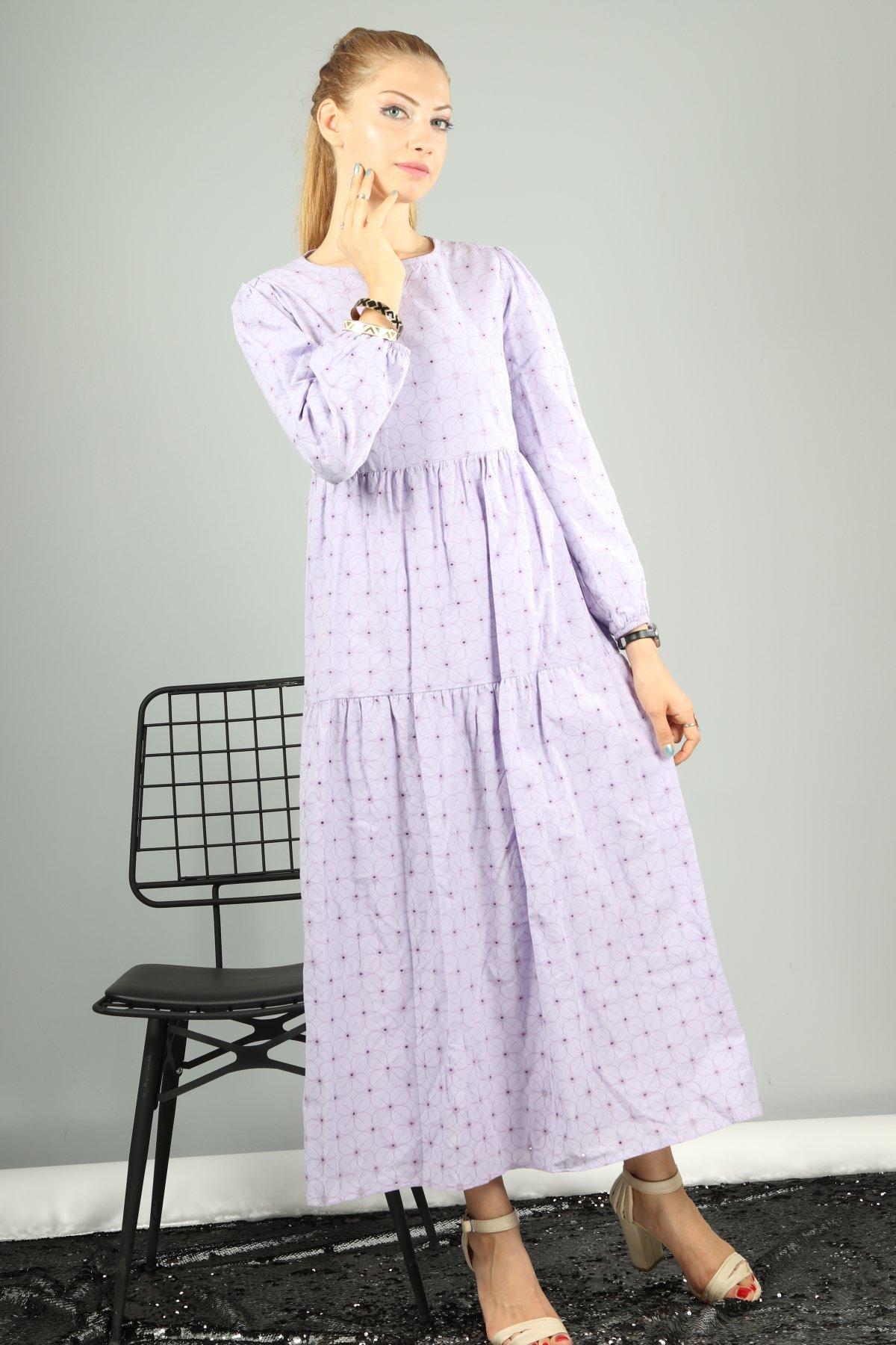 Begonya Delikli Desen Elbise