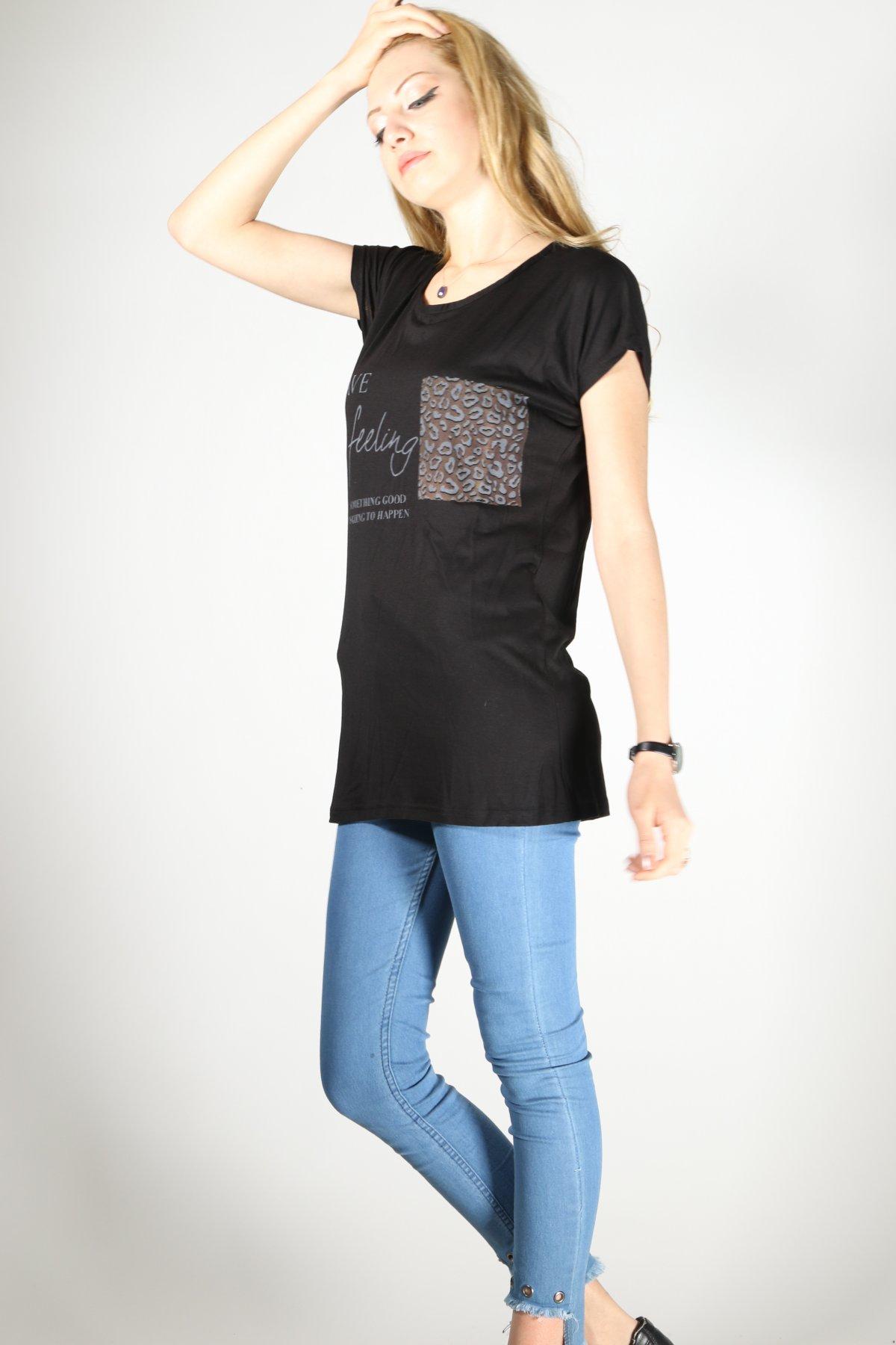 Have Feeling Baskı T-shirt