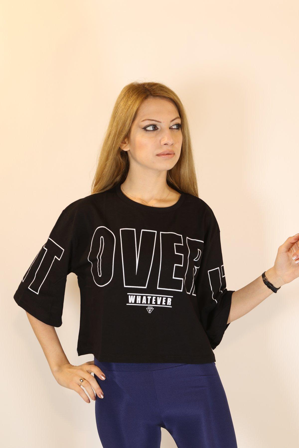 Over Baskı T-shirt