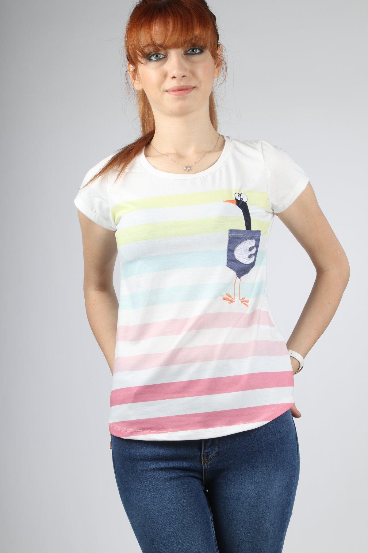 Kot Cepli Ördek Baskı Sweat-tshirt