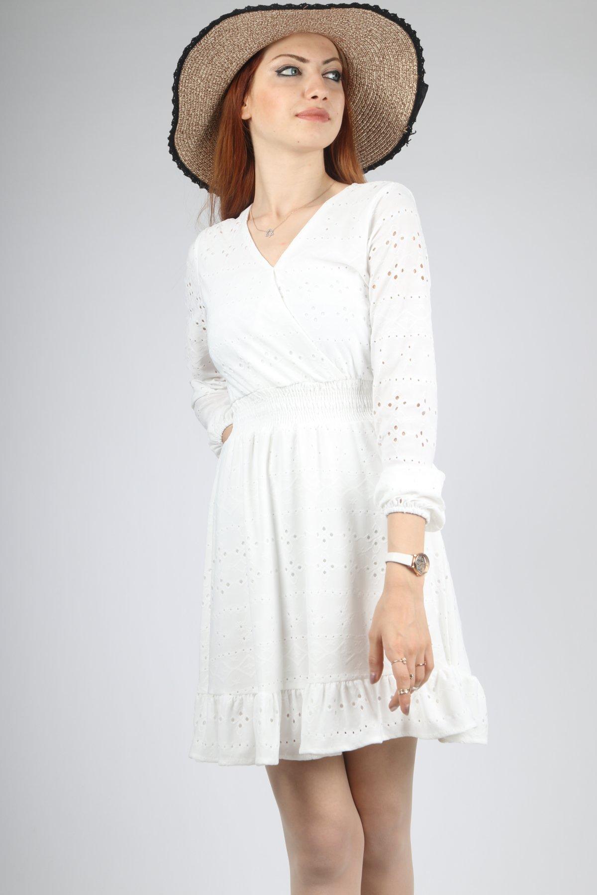 Bel Korse Delikli Elbise