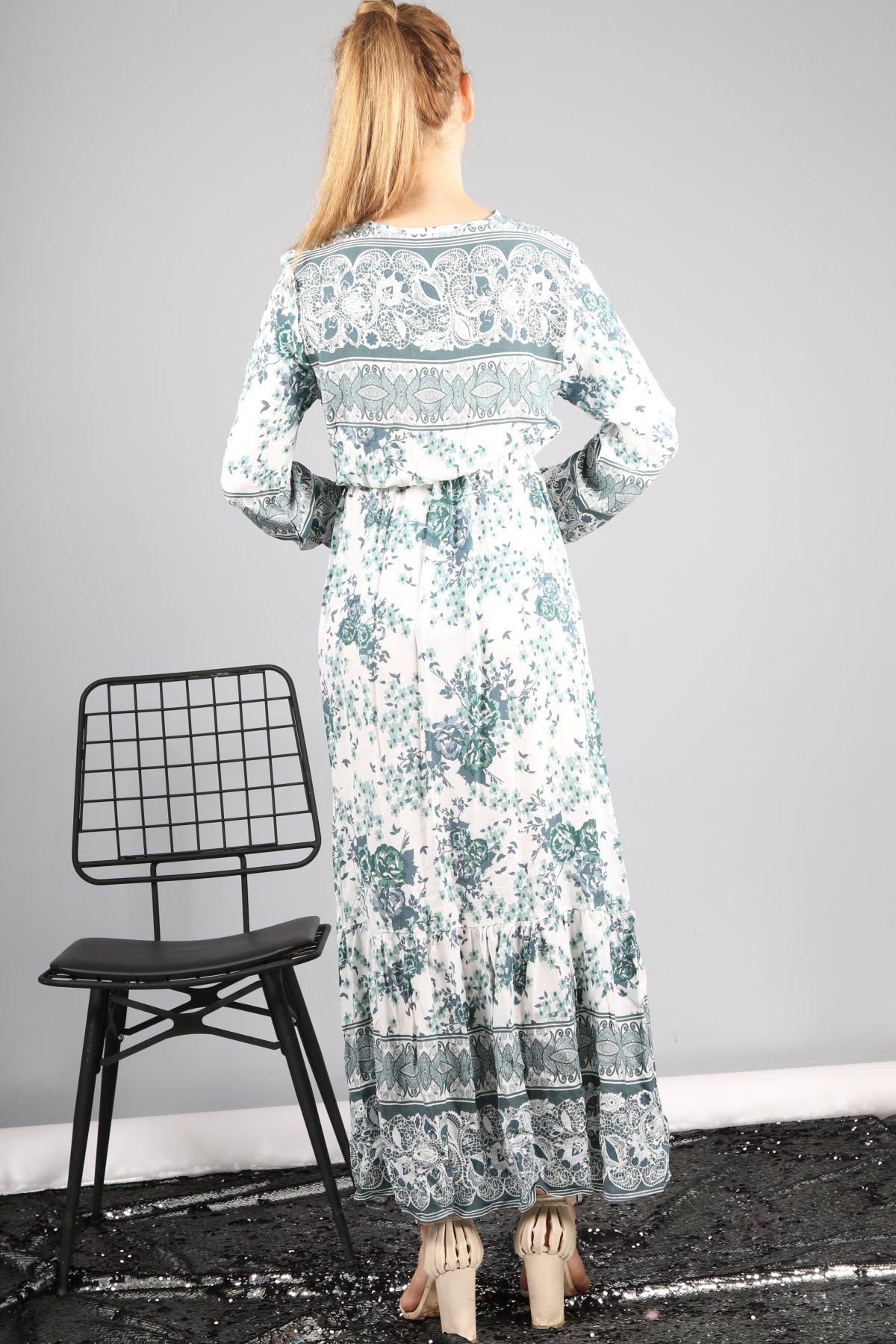 Modif Gül Desen Elbise