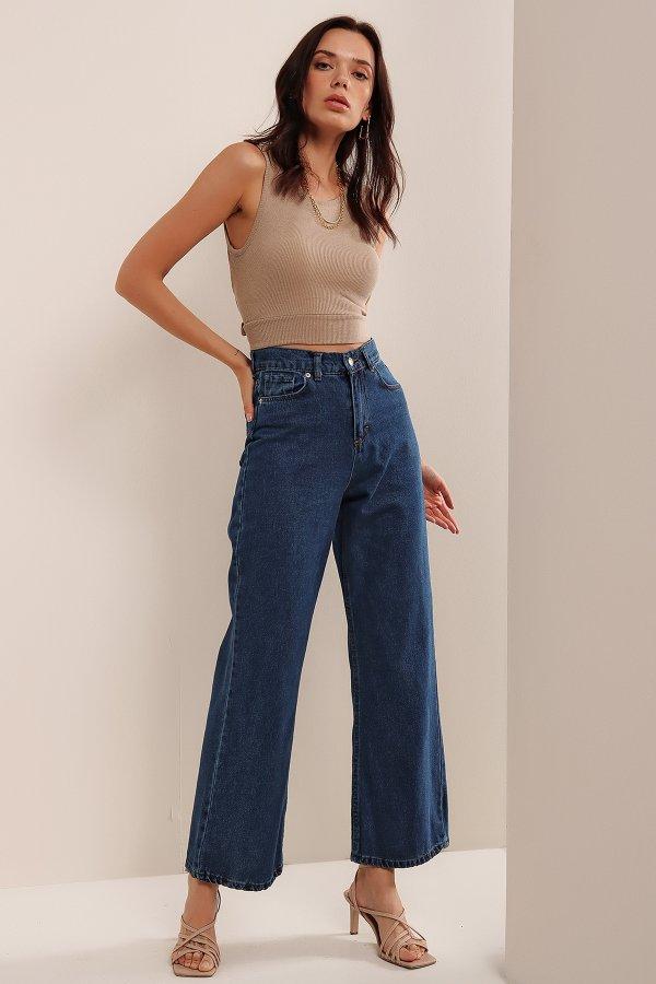 Yüksek Bel Boyfrend Pantolon