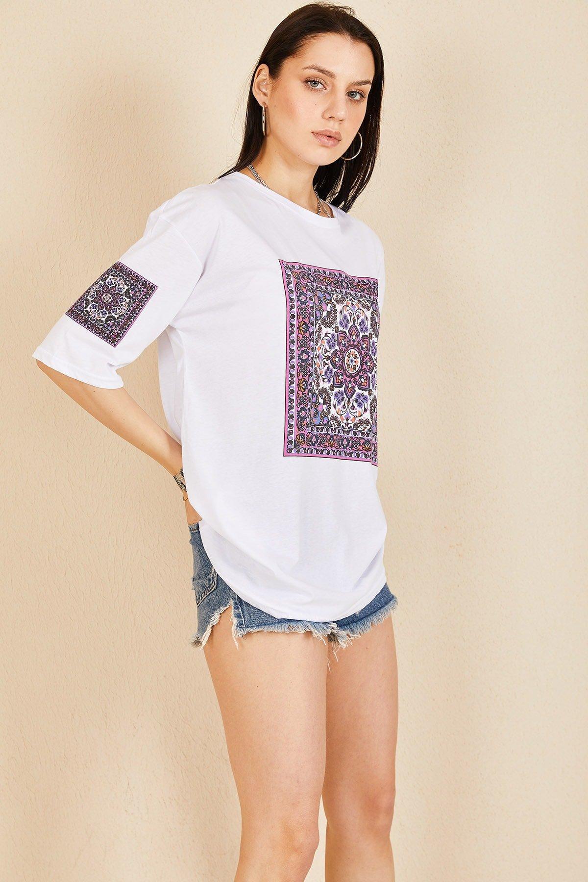 Kilim Baskı T-shirt