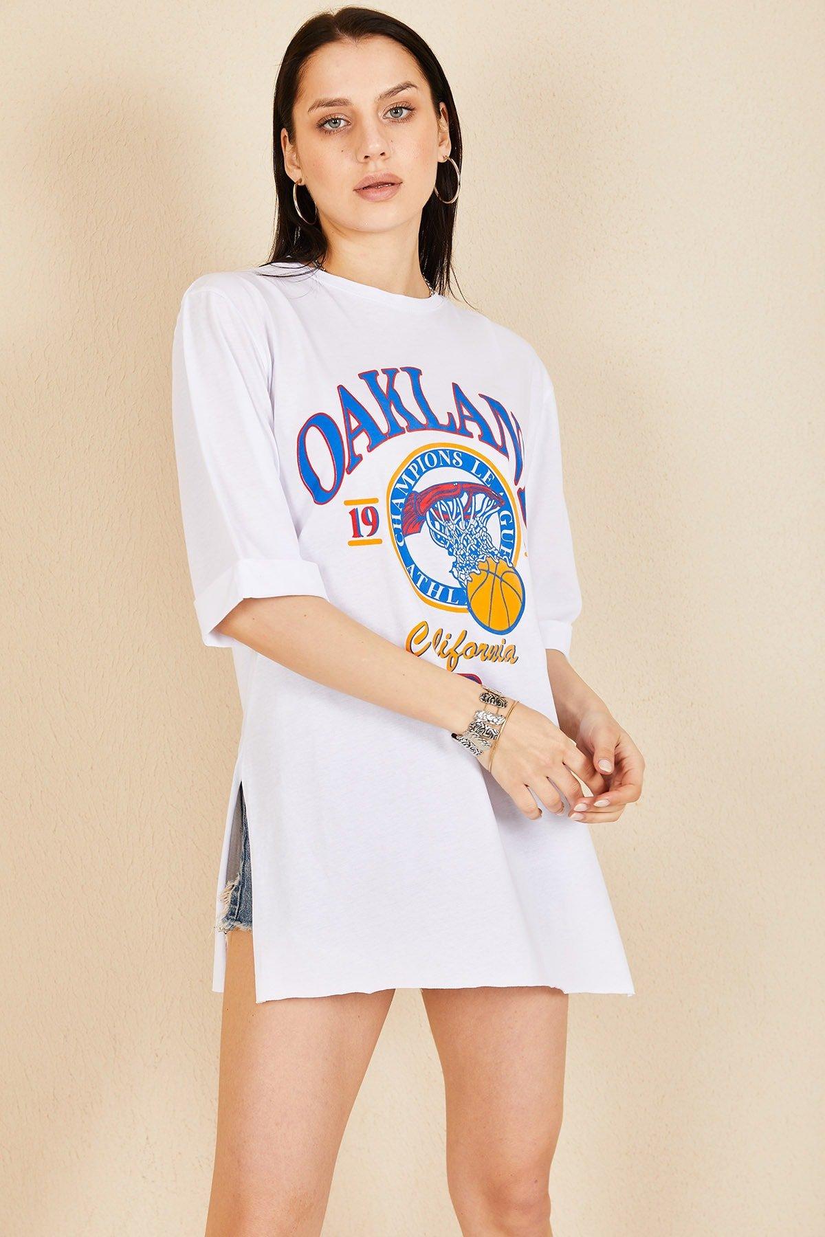 Oakland Baskı T-shirt