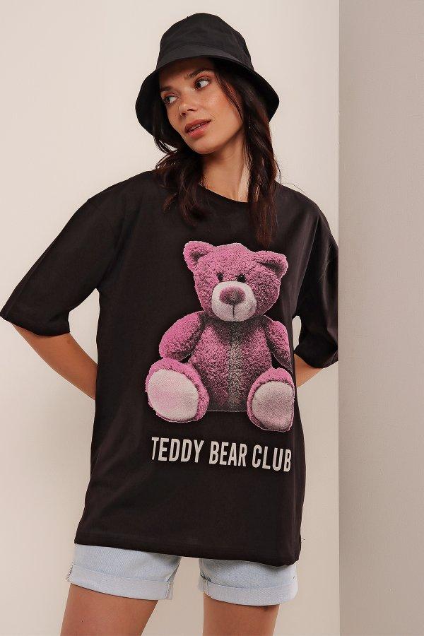 Teddy Bear Baskı T-shirt