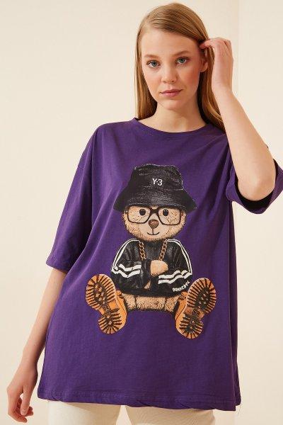 Gözlüklü Şapkalı Ayıcık T-SHİRT