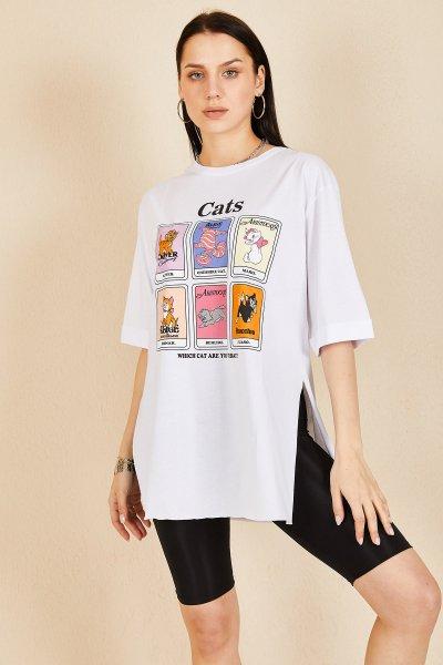 Kedi Baskı T-SHİRT