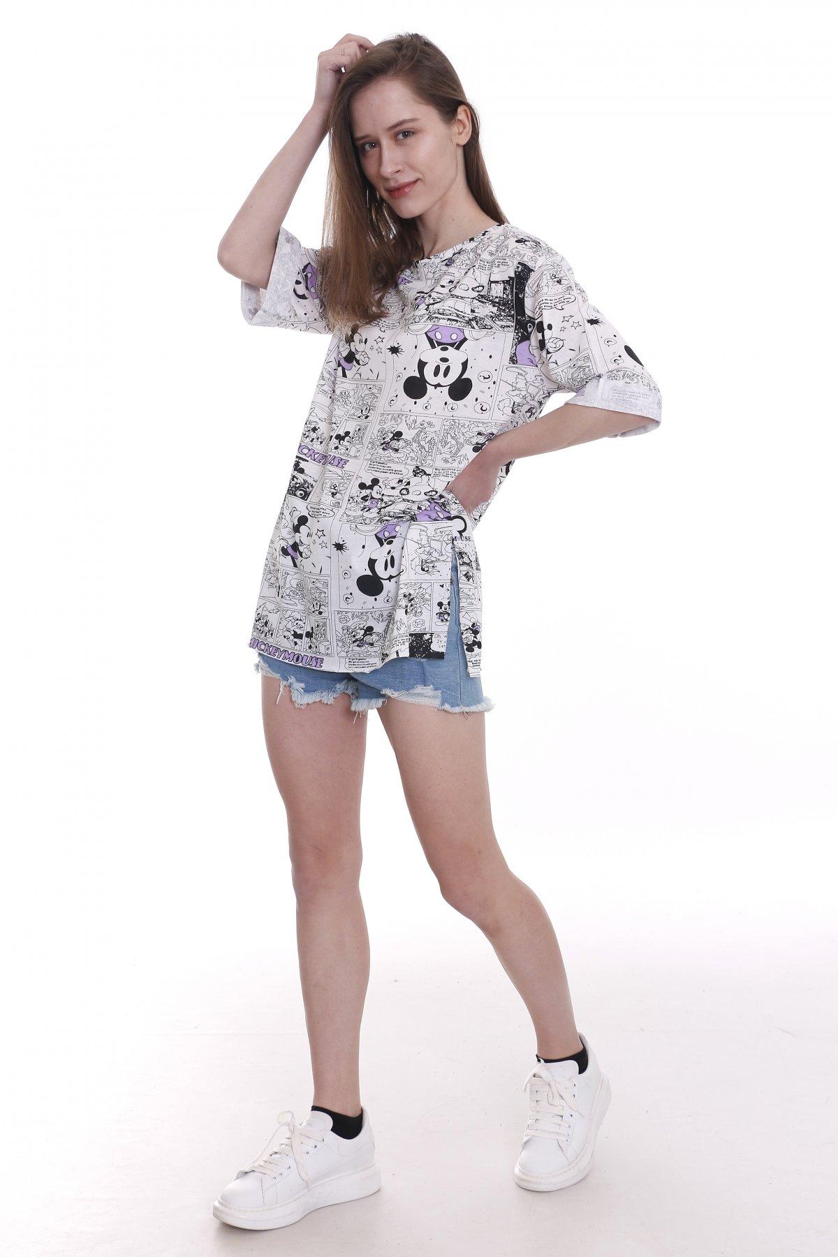 Mickey Mouse Baskı T-shirt